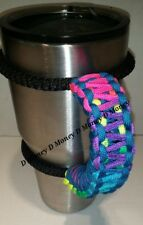 Paracord Handle for 40oz, 30oz, or 20ozYeti Ozark & Aritic Tie dye & Carrib Blue