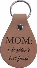 Mom A Daughter's Best friend Leather Key Chain - Great Gift for Mothers's D