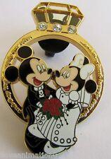 Disney Pin 56449 Diamond Wedding Ring Mickey Mouse & Minnie Mouse Pin