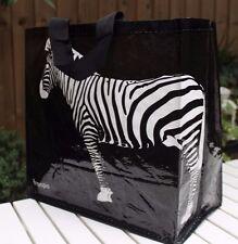 Borsa Shopping O Spiaggia, molto resistenti, molto leggero, molto attraente, Zebra-Nero