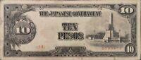Billete Filipinas gobierno de Japón 10 pesos 1943 2º emisión serie 34