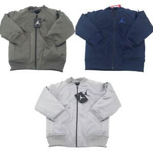 New Nike Jordan Jumpman Little Boys Zip Up Long Sleeves Bomber Graphic Jacket