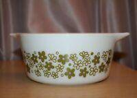 PYREX 474-b 1 1/2 Quart Spring Blossom Bowl Casserole Dish Vintage USA