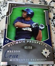 NELSON CRUZ 2005 Upper Deck Ultimate Collection Rookie Card RC 03/50 SP 323 HRs
