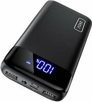 NEW Power Bank LED Display 20000mAh Portable Charger Dual 3A High Speed Output