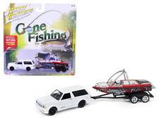 JOHNNY LIGHTNING 1/64 GONE FISHING 1992 GMC TYPHOON W BOAT & TRAILER JLBT003-A