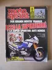 MOTOSPRINT n°44 1988  Test APRILIA 125 RED ROSE HONDA CN 250 [MS7]