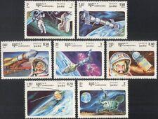 Kampuchéa 1985 Gagarin/Tereshkova/espacio/satélites/astronautas 7 V Set (b7997)