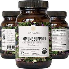 Truvani Immune Support Organic Herbal Supplement Vitamin C 8 Natural Ingredients
