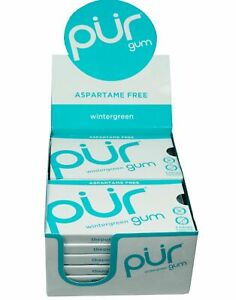 Pur Gum Winter Green Gums Blister Pack 9pc (Pack of 12)