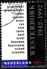 Netherlands 1992 Mi. 1445. Westerbork Refugee Camp - 50. Judaica, Used / Cto