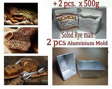 2 pcs forms + 2pcs Solod Rye malt Bread Pan Loaf Aluminium Mold Borodinsky Home