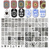 BORN PRETTY Hot Nail Art Stamping Schablonen Stempel Plates DIY L-Series