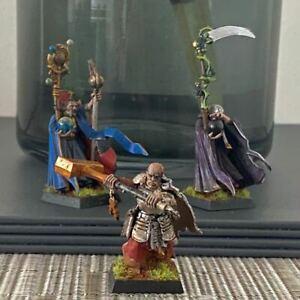 Pro Painted GW Warhammer AoS Fantasy Empire Wizards + Warrior Priest  Mordheim