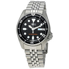 Seiko Black Automatic Diver Mens Watch SKX013K2