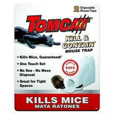 Tomcat Kill and Contain Mouse Trap Traps Animal and Rodent Control 2 pack
