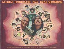 George HARRISON & Ravi SHANKAR: 1974 Souvenir Program