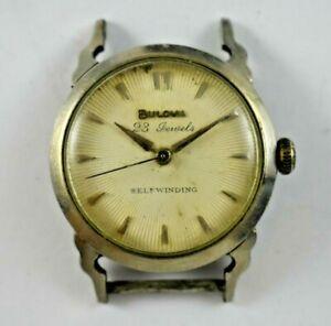 Vintage 1958 L8 Bulova Selfwinding Sunburst Dial 23J 6Adj 10BPAC Watch lot.15