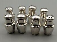 Vtg Sterling Silver Individual Salt & Pepper Shaker Lot Set of 4 Watson M13