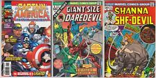 Giant Size Daredevil 1—1975—Shenna She Devil 4—1973—Captain America 1—1998—Lot