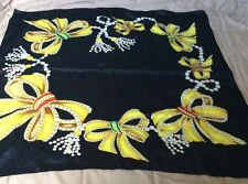 PURE SILK Authentic CHANEL Silk Scarf ~~~ Jewels / Pearls  34x 34 Perfect Cond