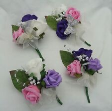 Corsage wedding ivory/ pink /lilac /ladies /mother of bride.