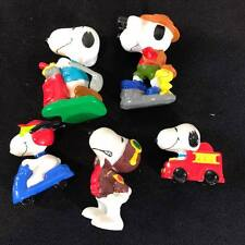 Vintage Lot 5 Peanuts doll- Snoopy aventures United Feature Syndicate