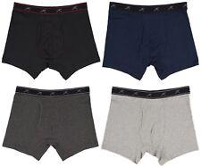 TERRAMAR Rib Boxer Brief Performance Underwear 4-Pack Small 30-32 Black Grey Blu