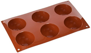 Silikomart Silicone Mould Semi-Sphere, Extra Large, 70 mm, Terracotta, L