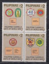 Philippine Stamps 1992 Guerilla Units of WWII Series 1 Complete set MNH