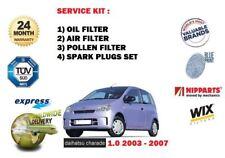 für Daihatsu Farce 1.0 2003-2007 Öl Luft Pollen 3 Filter Kit + Zündkerzen-Satz