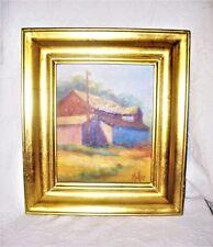 "Original Carolyn Muller 2004 ""Feed Mill"" Signed Oil Painting Cincinnati OH OOAK"