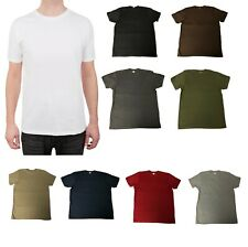 5, 10, or 12 Pack T-Shirts Preshrunk 100% Soft Cotton Superior Quality Crew Neck