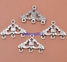 16pcs Tibetan Silver Charm Earring Connectors Jewelry Findings 23X17MM C3051