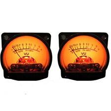 Pair 500μA 630Ohm Analog Panel VU Meter Audio Level Meter 6-12V W/Warm BackLight