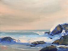SECRET COVE Original Expression Art Seascape Ocean Painting 9x12 042519 KEN