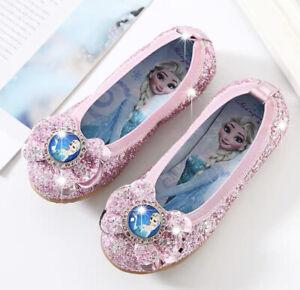 Frozen Elsa shoes Party glamour Girl's Sparkling Glitter PINK Colour