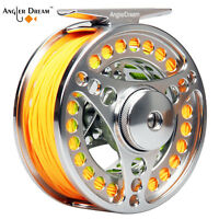 3/4 5/6 7/8WT Fly Fishing Reel And Line Combo CNC Machined Reel & Backing Leader