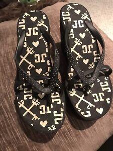 Juicy Couture Wedge Platform Flip Flop Sandal Shoe