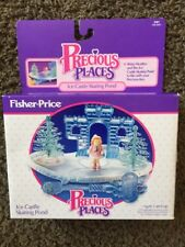 Vintage Fisher Price Precious Places Ice Castle Skating Pond In Box 1988