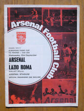 Vintage 1970 Arsenal vs Lazio Roma Soccer Football Program, England vs Italy