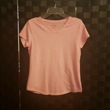 Cat and Jack Girls Peach Tshirt Size 10/12