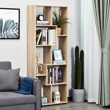 Natural Wooden Bookcase Modern Decor Display Shelves Bookshelf Storage Furniture