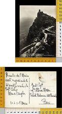 21084] REPUBBLICA DI SAN MARINO - LA SECONDA TORRE VISTA DALLA PASSARELLA 1950