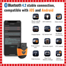 OBD2 Bluetooth Car Diagnostic Scanner for iPhone Android Code Reader Autophix US