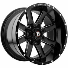 "(4) 20"" Inch Ballistic 959 Rage 20x10 6x135/6x5.5"" -19mm Black/Milled Wheels"