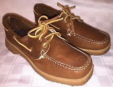 Vintage Womens Size 5.5 B QUODDY MOCCASINS Brown Boat Moc Toe Loafers Shoes