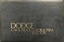 1975 Dodge Color Upholstery Dealer Album Dart Coronet Charger D100 D200 Van Etc