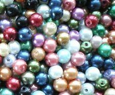 Perline sfuse di vetro multicolori rotondi
