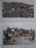 WW1 2 photos British Troops W Beach Gallipoli 1915